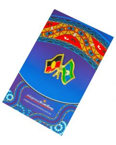 NAIDOC Twin Flags Lapel Pin