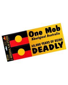 Sticker Vinyl Set Of 2 Aboriginal Flag