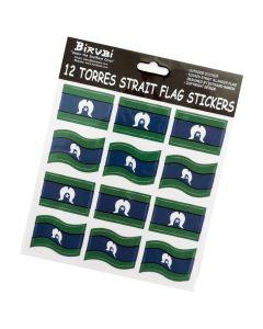 Sticker Vinyl Set Of 12 Torres Strait Islander Flag