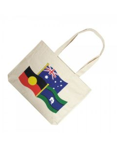 Australia, Aboriginal & Torres Strait Islander Flag Calico Bag