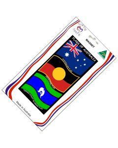 Magnet Canvas Flags Of Australia Wavy