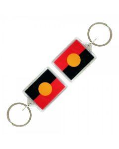 Aboriginal Flag Acrylic Keyrings 45x35cm