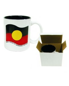 Ceramic Aboriginal Flag Wavy Mug