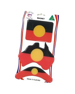 Magnet Resin Set Of 3 Aboriginal Flag