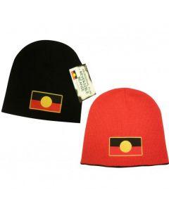 Reversible Beanie Hat Aboriginal Flag