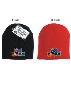 Reversible Beanie Hat Flag Of Australia