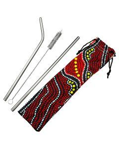 NAIDOC Re-Usable Straw Sets