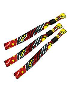 NAIDOC Recycled PET Fabric Wristbands