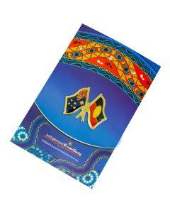 Australian & Aboriginal Flag Badge 26x21mm