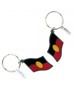 Aboriginal Flag Keyring Metal Keyrings 40x30mm