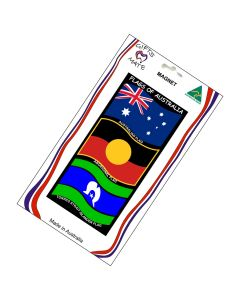 Magnet Flexible Flags Of Australia Wavy