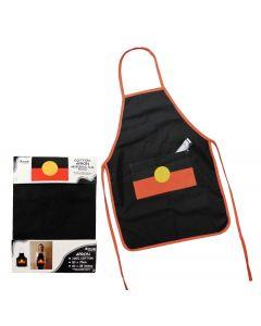 Apron Cotton w/ Pocket Aboriginal Flag 50x70cm