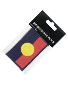 Polyester/Rayon Aboriginal Flag Patch 85x54mm