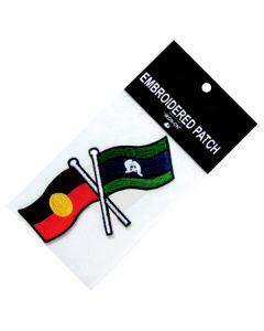 Polyester/Rayon Aboriginal & Torres Strait Islander Flag Patch