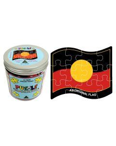 Aboriginal Flag Jigsaw Puzzle 12 Piece