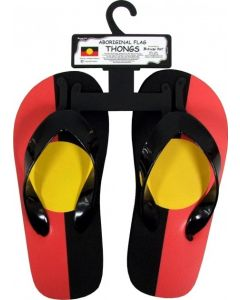 Rubber Aboriginal Flag Thongs Small Sizes 2-4
